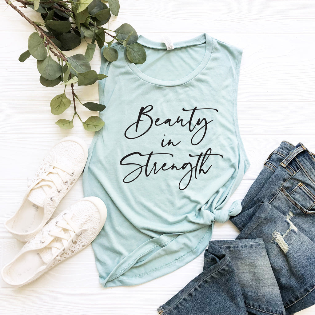 Beauty in Strength. Strong is Beautiful. Be Strong. Grace. She Is Strong. Christian Faith. Yoga. Workout Inspirational. Mom Strong. Warrior.