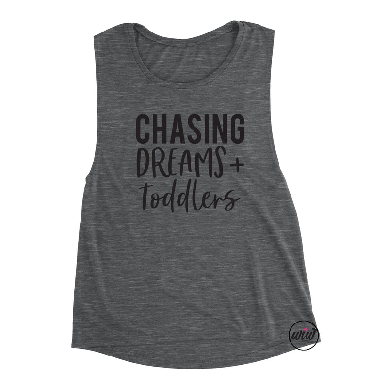 Chasing Dreams and Toddlers Muscle Tank. Mother Hustler. Workout Tank. Girl Boss. Mompreheur. Fitness CEO
