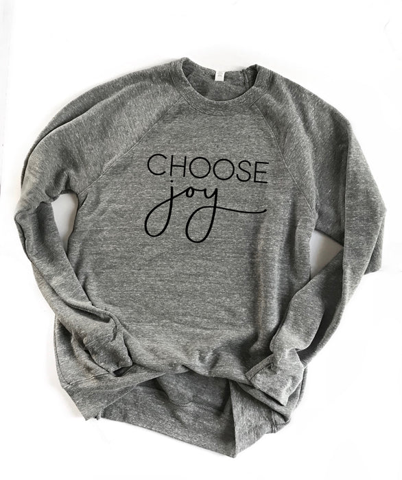 CHOOSE Joy Sweatshirt. Choose Happy. Christian Shirt. Be Kind. Christmas Shirt. Fall Shirt.