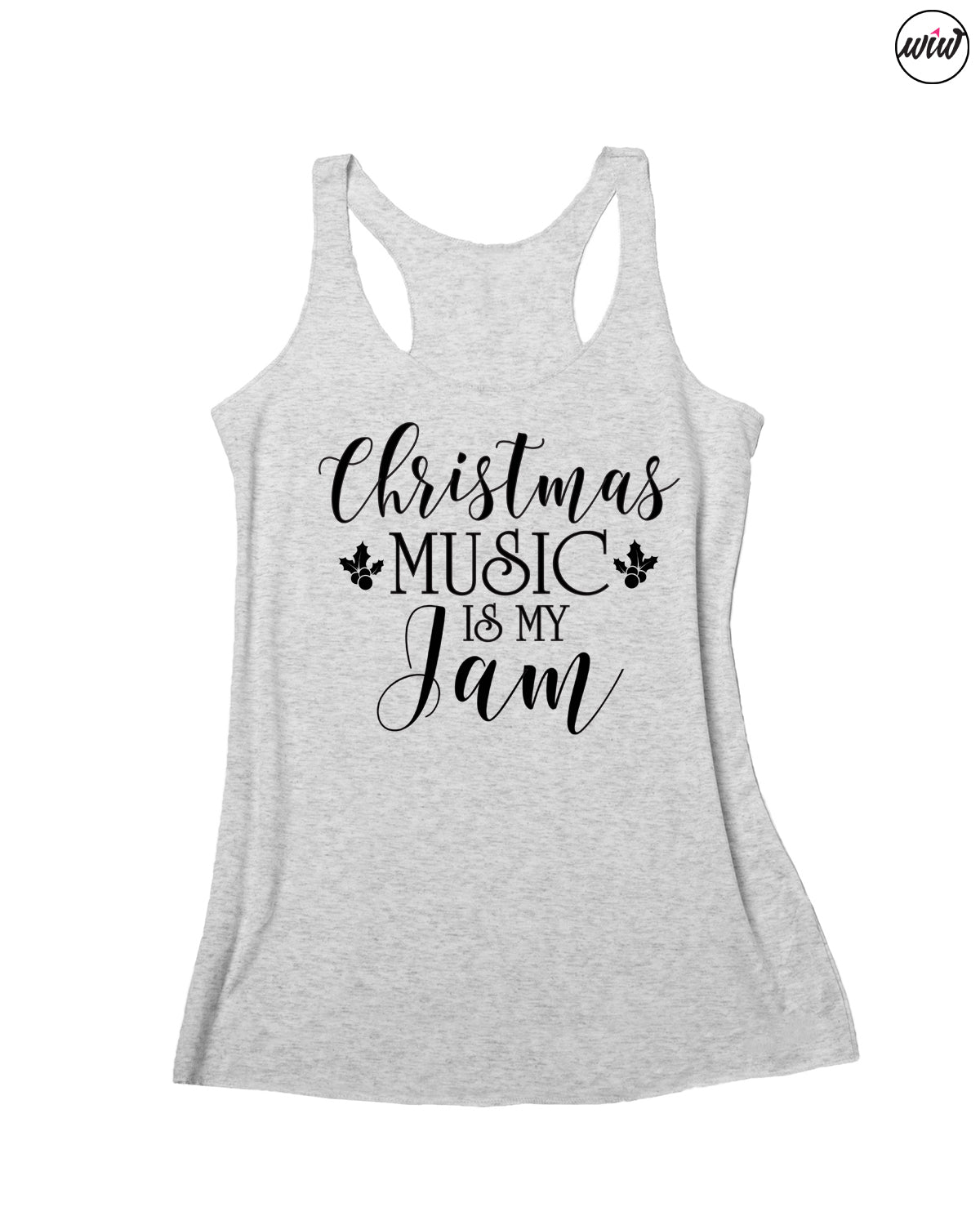 Christmas Music Is My Jam Tank Top. Holiday Shirt. This Girl Loves Christmas. Merry and Bright. Christmas Shirt. Xmas Shirt