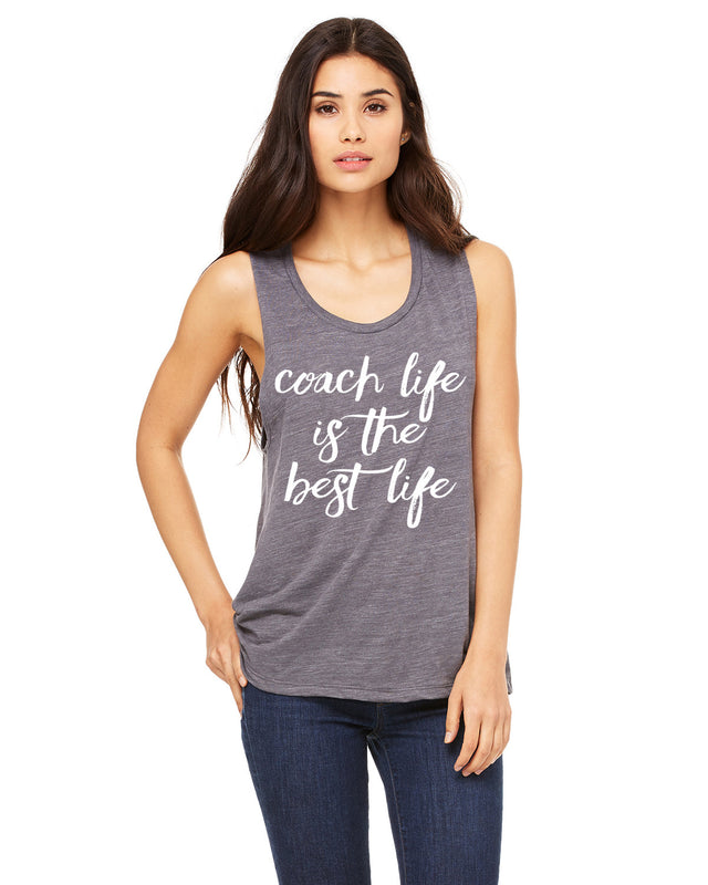 223de8416a56af Coach Shirt. Coach Life Is The Best Life Muscle Tank Top. Coach Tank ...