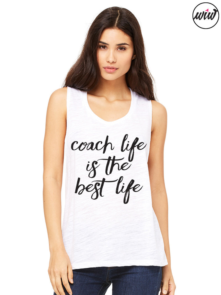 2a7bc8b0b Coach Life Is The Best Life. Muscle Tank Top. Coach Shirt. Workout Tank