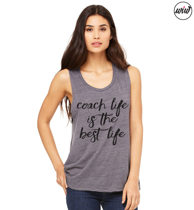 Coach Life Is The Best Life. Muscle Tank Top. Coach Shirt. Workout Tank. Shakeo Shirt. Girl Boss. Inspiration. Fitness Tank. Gift for Coach. Fitness Health Coach.