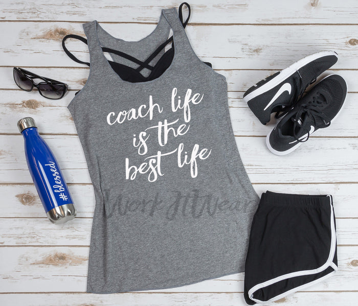 Coach Life Is The Best Life. Fitness Coach. Girl Boss. Boss Lady Health Coach. Workout Tank. Fitness Tank. Find Your Tribe. Gift for Coach. Coach Trainer