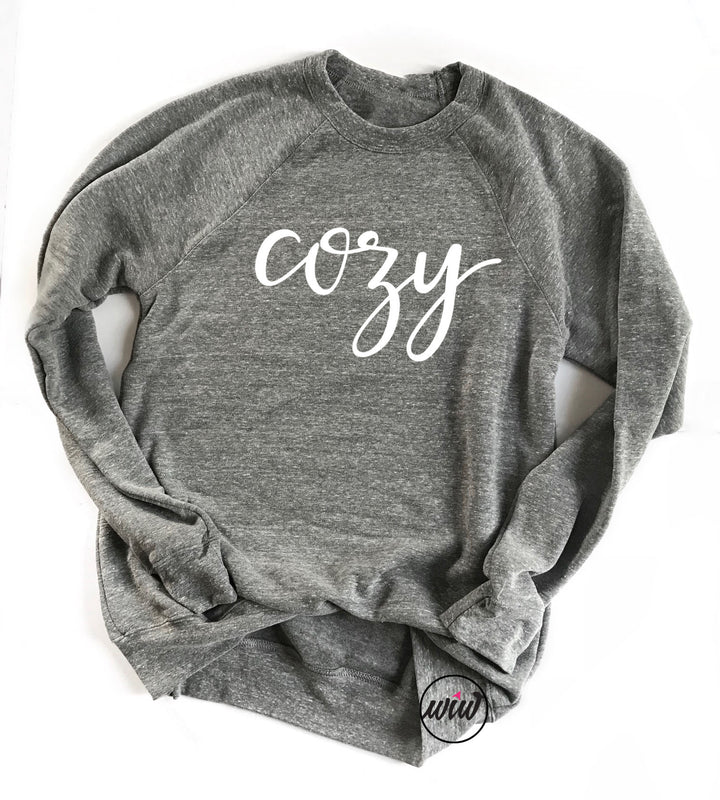 COZY Crewneck Unisex Sweatshirt. Cozy AF. Fleece Sweater. Freaking Cold. Snuggle Weather. Sweater Weather. Lounge Wear. Winter. Fall