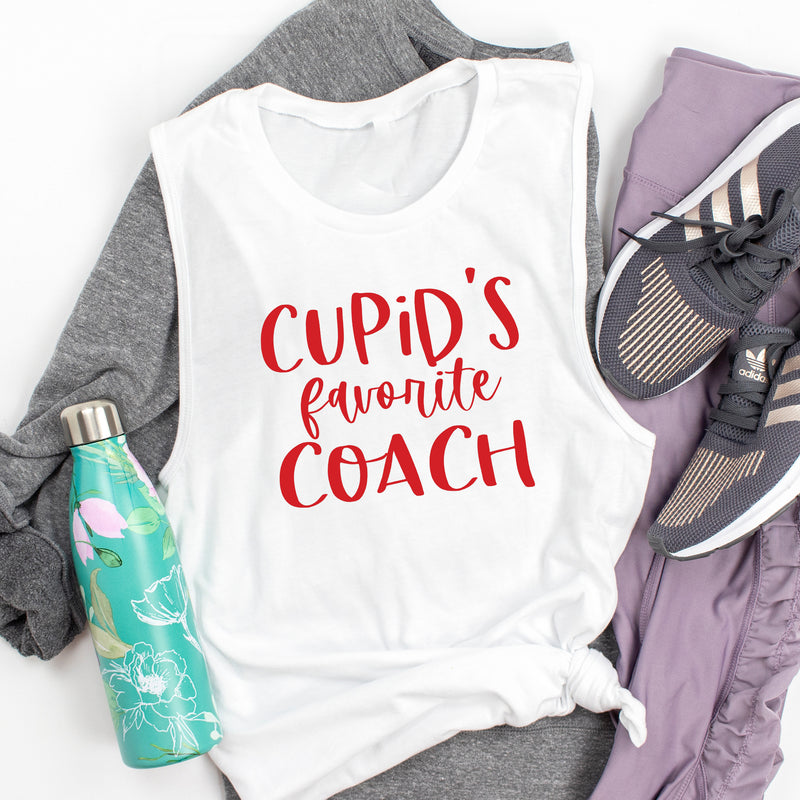 Cupid's Favorite Coach. Valentine Workout. Love Fitness. Coach Life Best Life. Coach Tank. Girl Boss