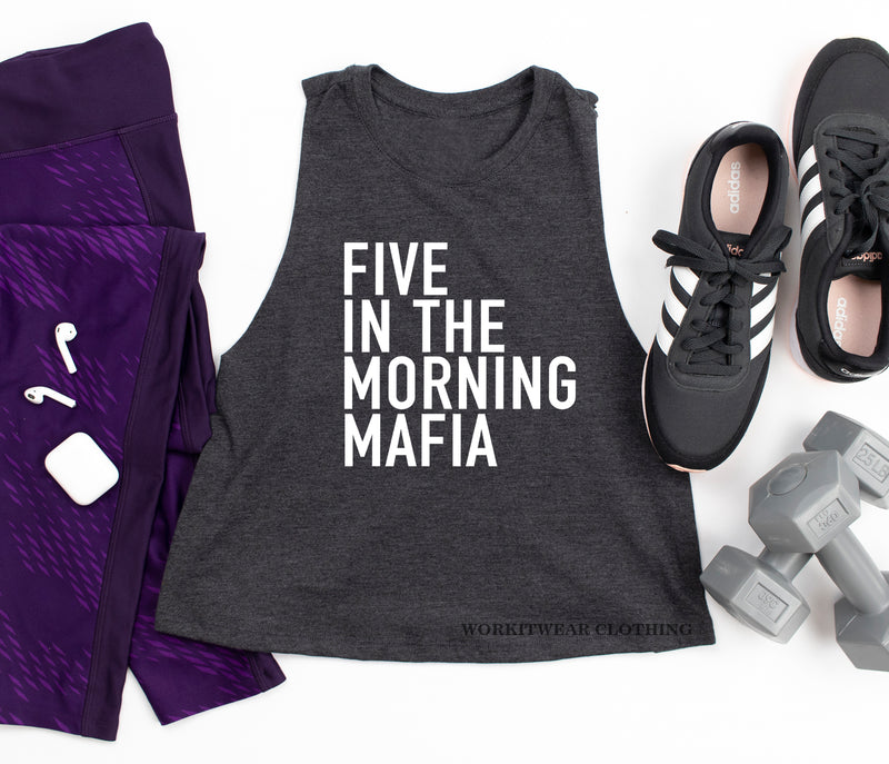 Workout Tank. Five In The Morning Mafia. Yoga. Spinbabe. Pilates. Fitness Crop Tank. Gym Shirt Exercise Tank. Five Crew. 5AM Squad. Besties