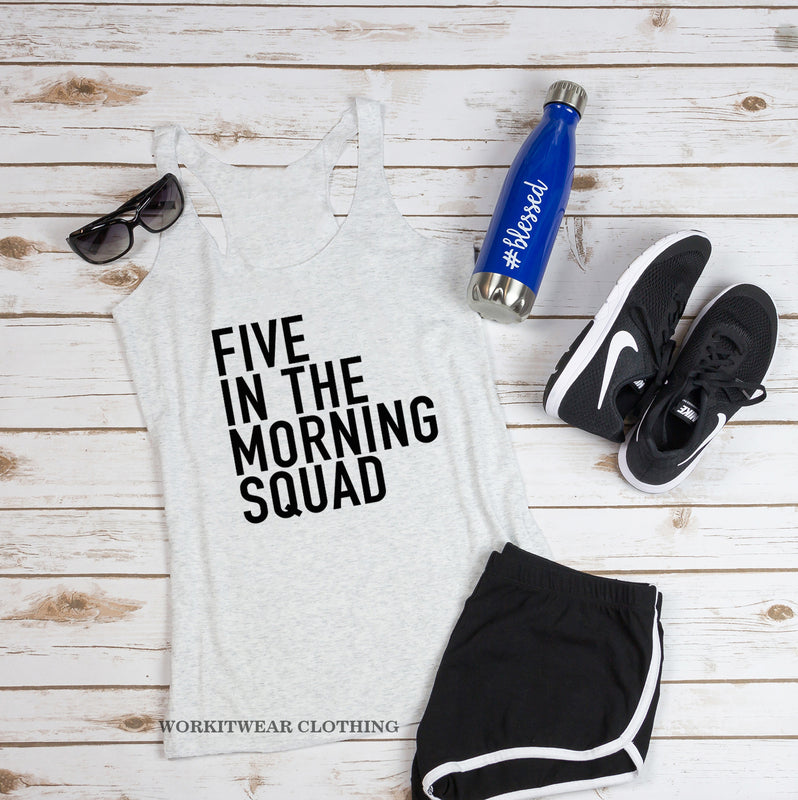 Five In The Morning Squad. Workout Tank. 5AM Crew. Spinbabe. Tread Card. Fitness Tank Gym Shirt Exercise Tank. Five Crew. Five Mafia.