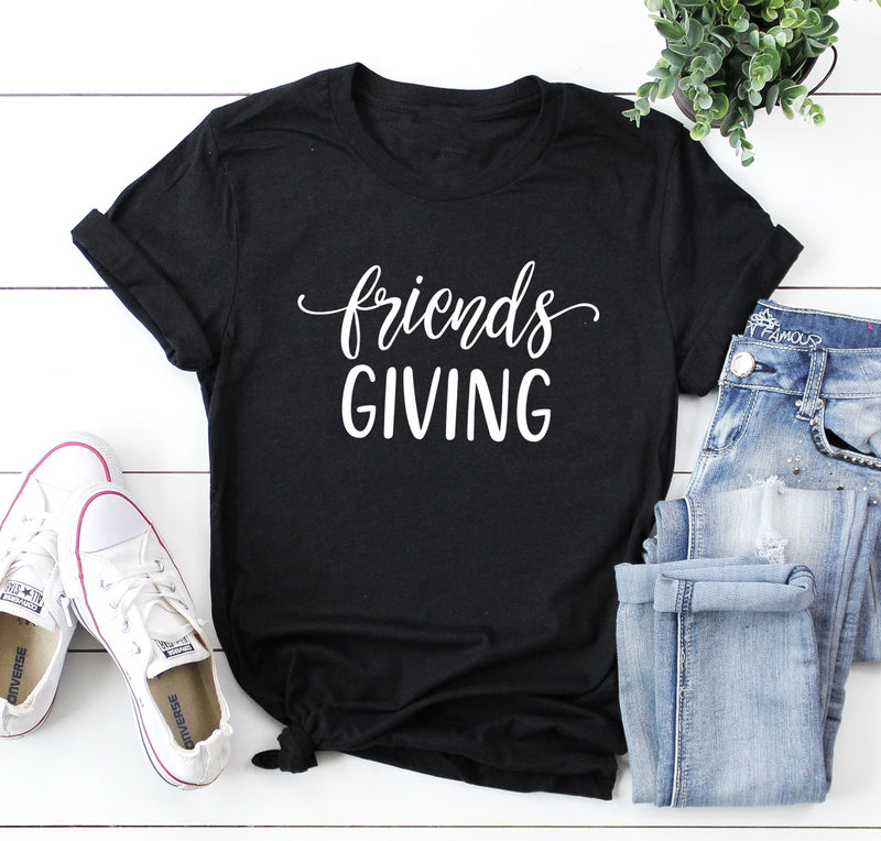 Friendsgiving Unisex Shirt. Thankful Blessed. Thanksgiving Shirt. Crazy Thankful. Grateful Blessed. Thankful Shirt. Friends Shirt. Host.