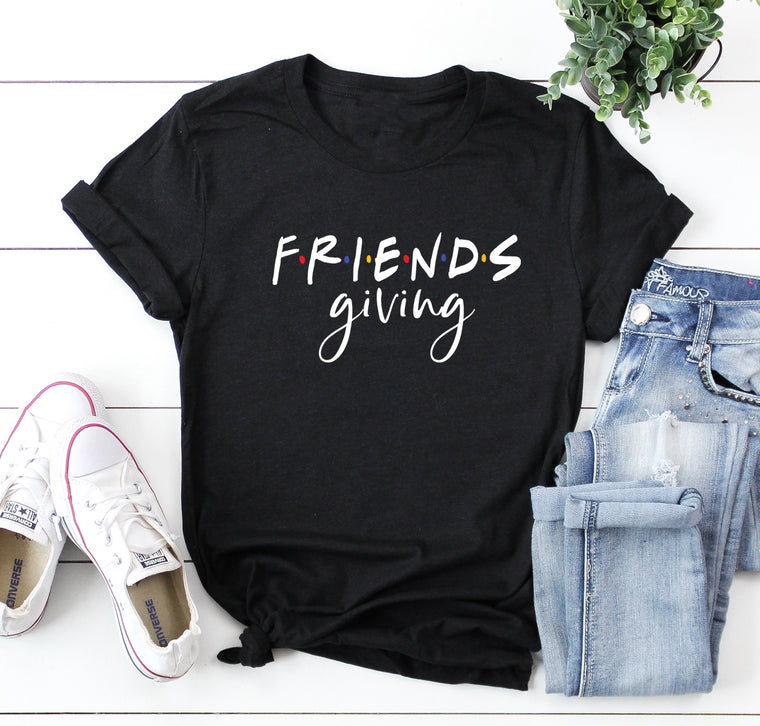 Friendsgiving Unisex Shirt. Friends Theme. Thanksgiving Shirt. Best Friends. Grateful Blessed. Thankful Shirt. Friends Giving Shirt. Host.