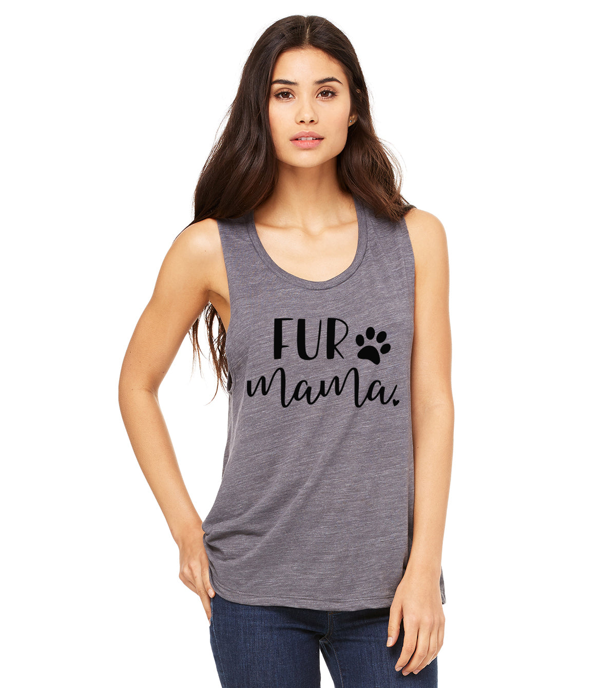 Fur Mama Muscle Tank. DOG Mom. Dog Mama Shirt. Gift for Animal Lover. Rescue Adopt Shirt. Dog Shirt. Dog Obsessed. Cat Mom. Fur Momma
