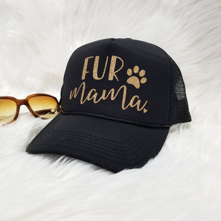 Fur Mama Hat. Dog Mom Hat. Dog Mom Gift. Workout. Dog Lover. Cat Lover. Glitter