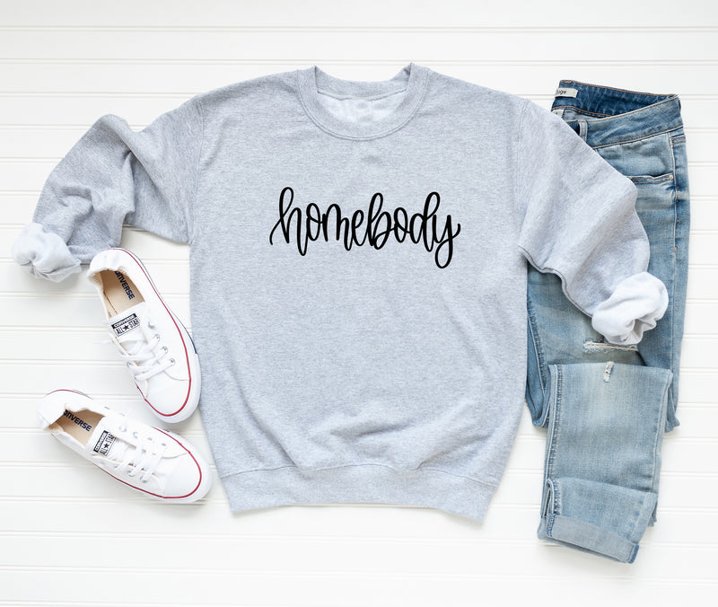Homebody Oversized Sweatshirt. Introvert Shirt. Funny Holiday Shirt. Stay At Home. Cozy. Loungewear. Lazy Preggers Shirt.
