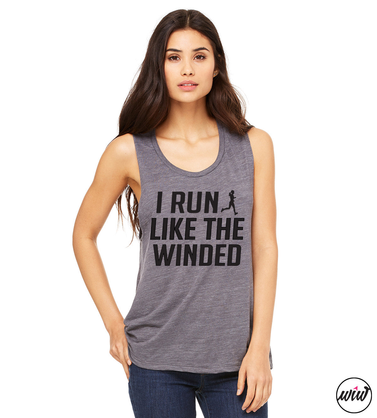 I Run Like the Winded Women's Muscle Tank Top. Workout Tank. Fitness Tank. Running Tank. Funny Running Shirt. Running Late. Marathoner. Run All The Miles