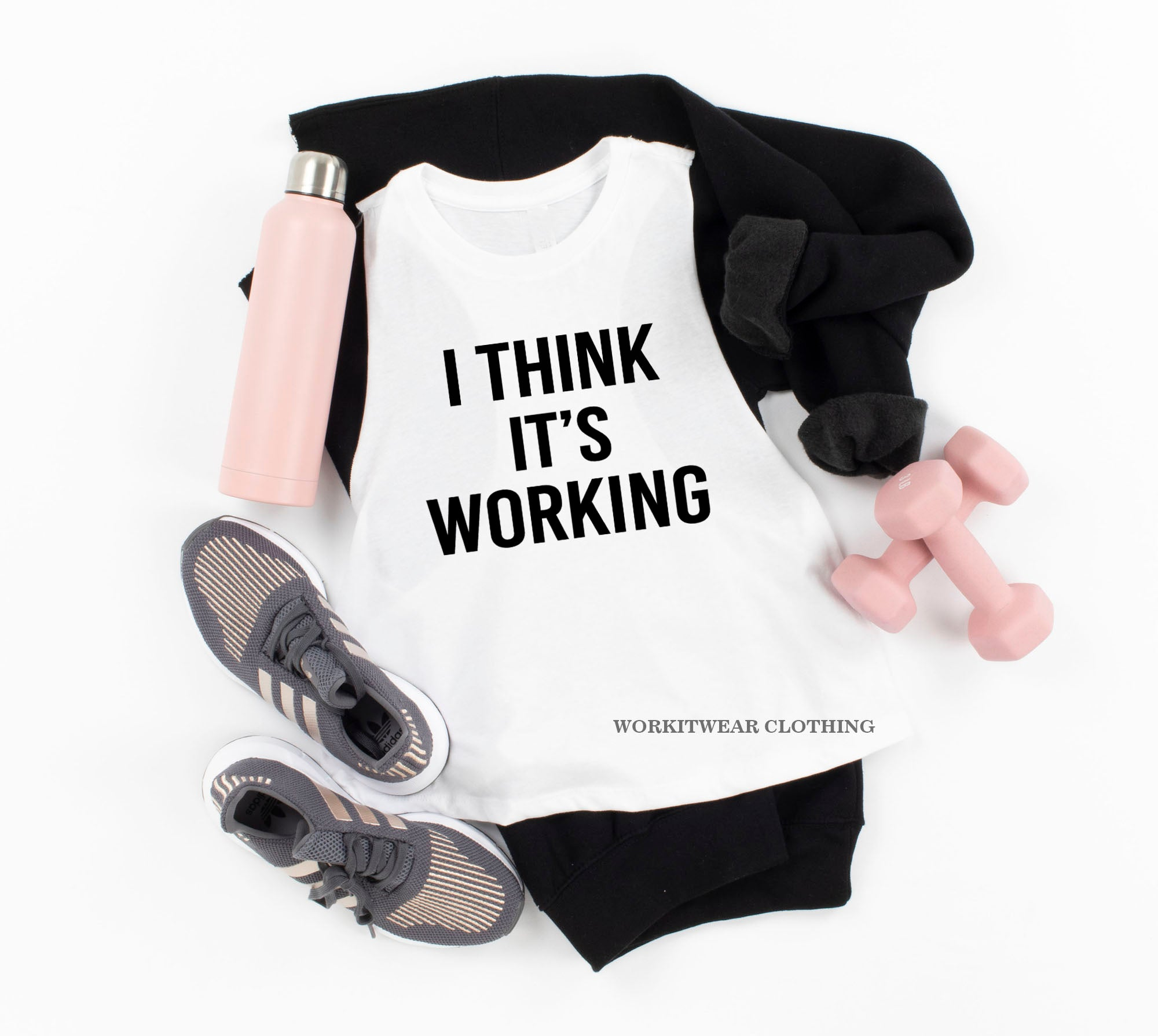 Funny Fitness I Think It S Working Cropped Tank Funny Exercise Funn Workitwear Clothing