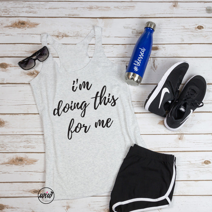I'm Doing This For Me Tank Top. Girl Boss Tank. Health Fitness Coach. Workout Tank. Fitness Tank. Entrepreneur. Workout Shirt. Gym Shirt. Mom Hustle