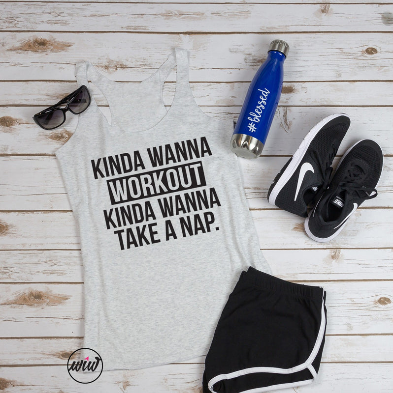 Kinda Wanna Workout Shirt. Workout Tank. Nap Queen. Preggers Shirt. Gym Tank. Running Tank. Yoga Tank. Gym Shirt. Gangsta Napper. Hustle Tank