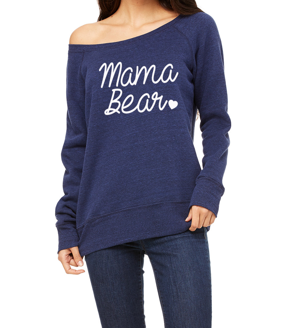 Mama Bear Wideneck Pullover Sweatshirt. Mama Bear Shirt. Christmas Gift. Momma Shirt. Mom Life. Mom To Be. Mom Wife Boss. Mom Gift.