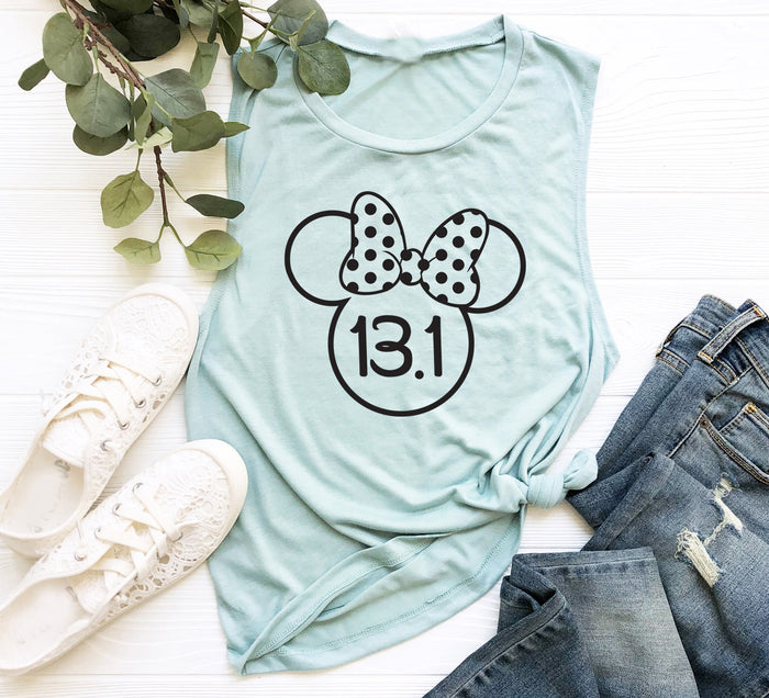 Half Marathon Running Tank. Minnie Ears. Disney Half Sisters. Training Tank. Running Shirt. Marathon Tank. Run Disney. Workout Tank.