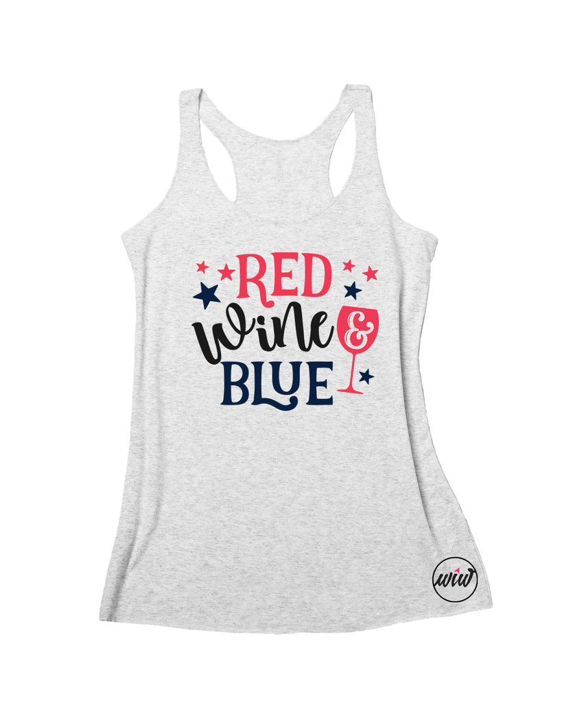4th of July Tank Top. Red Wine Blue. Merica AF. AMERICA Shirt. Fourth of July. Wine Shirt. Summer. Red White Blue. Patriotic. USA. 1776 Brew