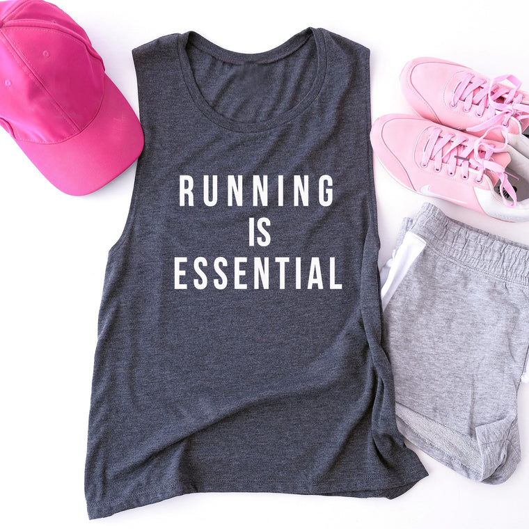 Running Is Essential. Fitness Tank. Running Shirt. Workout Tank. Exercise Tank.