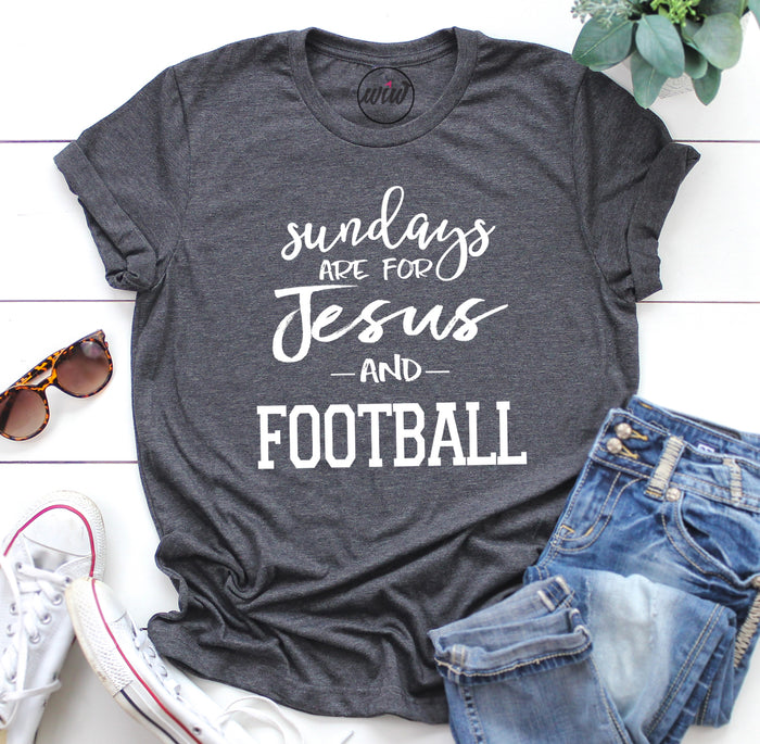 Sundays Are For Jesus and Football Unisex Shirt. Football Mom Shirt. Faith Football. Football Shirt. Mom Life. Sunday Shirt. Scripture
