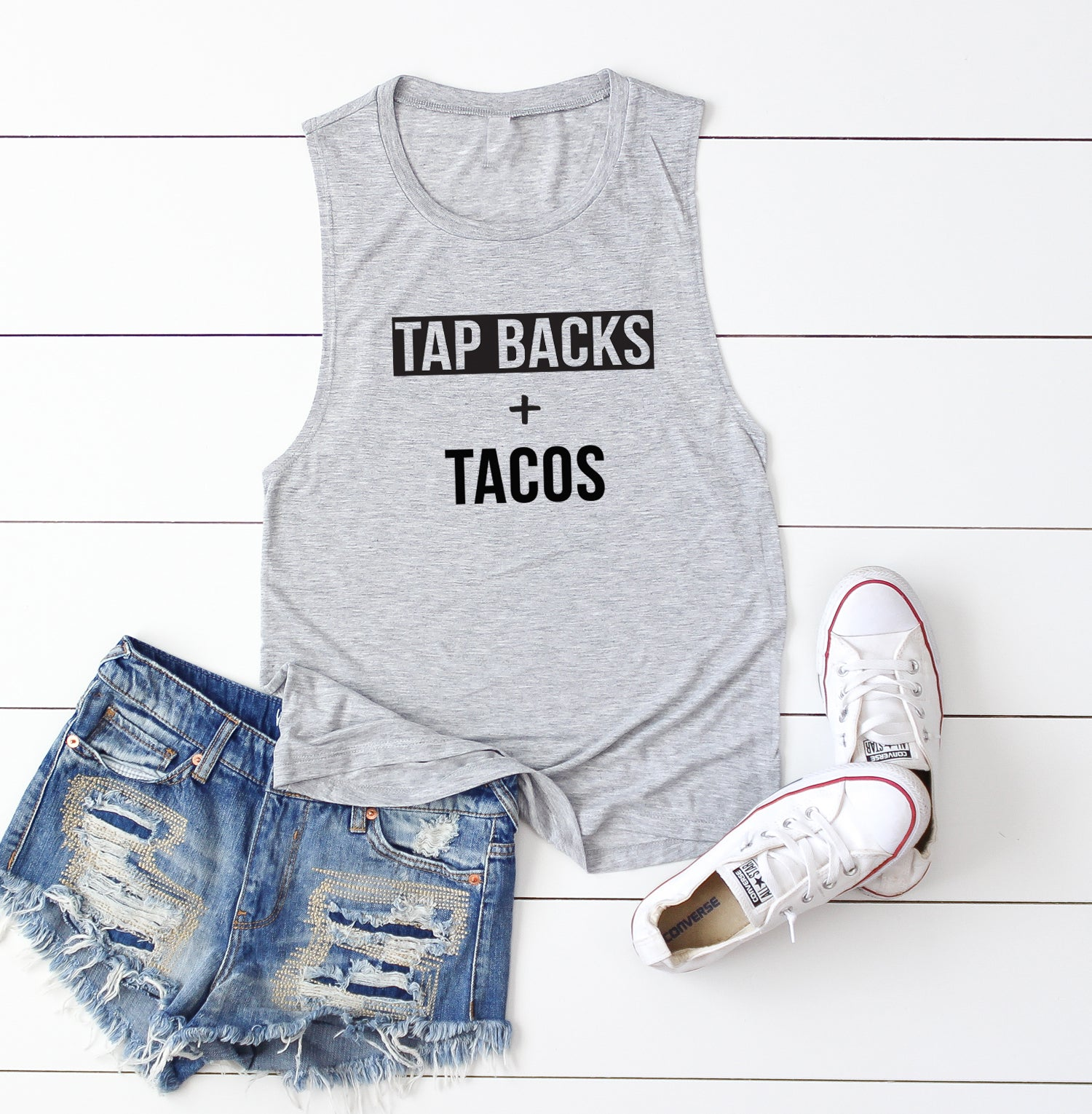 Tap Backs and Tacos. Taco Tank. Cardio Workout Tank. Fitness Tank. Cycling. Trainer Tank Soul