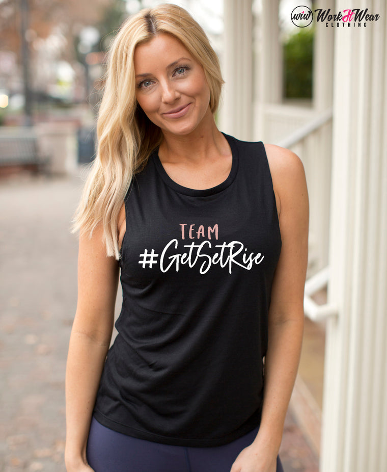 Reserved Listing for Team Get Set Rise - Muscle Tank Top