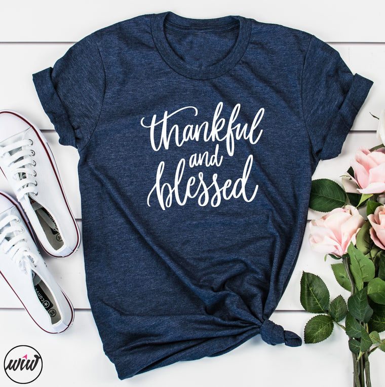 Thankful Blessed Shirt. Give Thanks. Thanksgiving Shirt. Crazy Thankful. Grateful Blessed. Thankful Shirt. Holiday Shirt. Christian Faith. Blessed Mama.