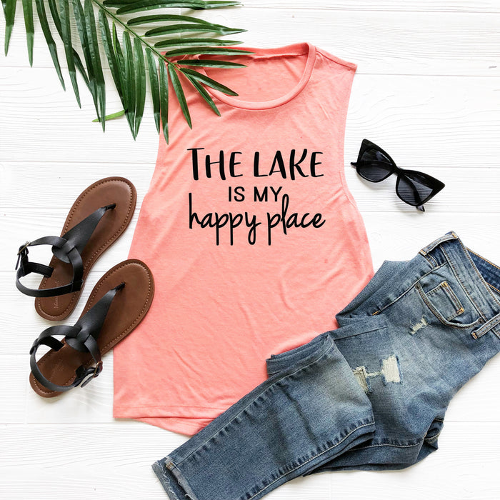 The Lake Is My Happy Place Tank Top. Lake Life. Lake Bum. Summer Tank Top. Lake House. Girls Trip.