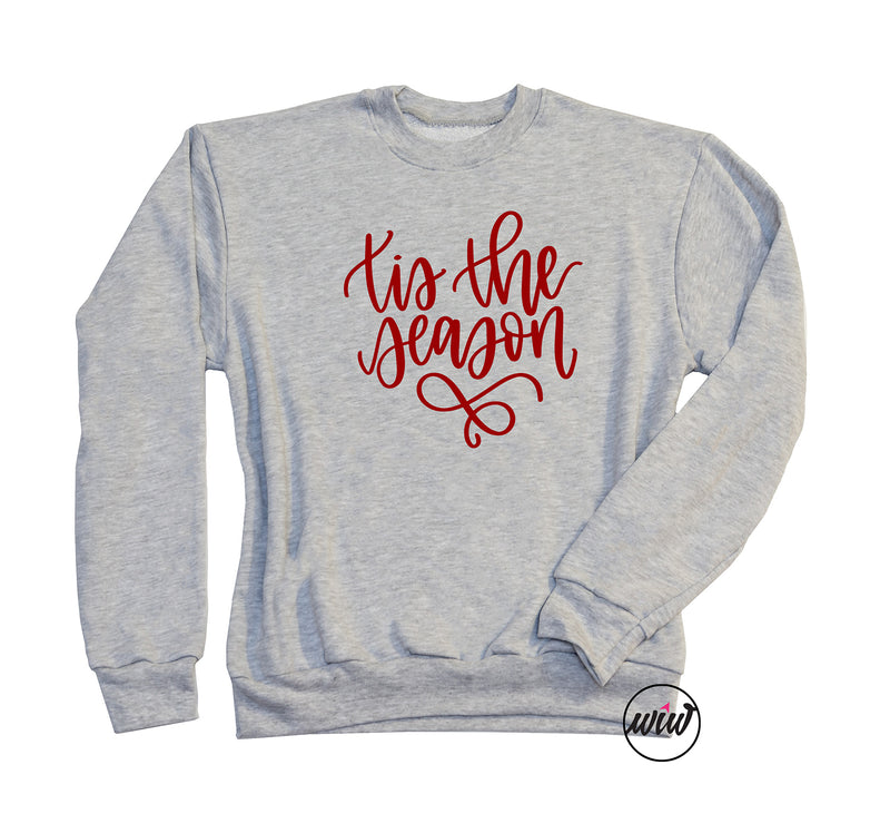 TIS The Season Oversized Sweatshirt. Christmas Shirt. Holiday Tee. Jolly AF. Fleece. Cold Outside. Christmas Sweatshirt. Funny Christmas