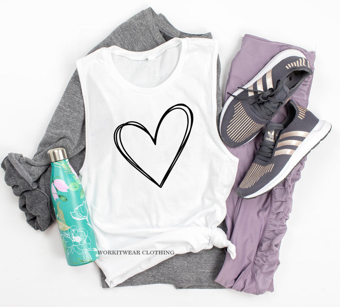 Heart Tank Top. Love Yourself Fitness. Yoga Tank. Valentine Shirt. Love Faith Hope. Gym Is My Valentine. Love Running. Heart Shirt.