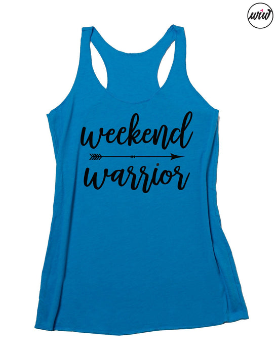 Weekend Warrior Tank Top. Weekend Vibes. Adventure Warrior. Yoga Tank. Barre Tank. Fitness Tank. Gym Shirt. Workout Tank. Inspirational. Christian Faith Shirt