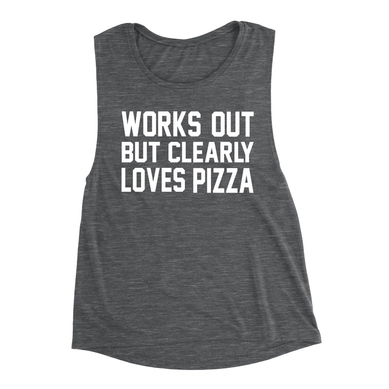 bff9a3a1e Works Out But Clearly Loves Pizza Shirt. Kinda Wanna. Tryna Be Fit. Workout