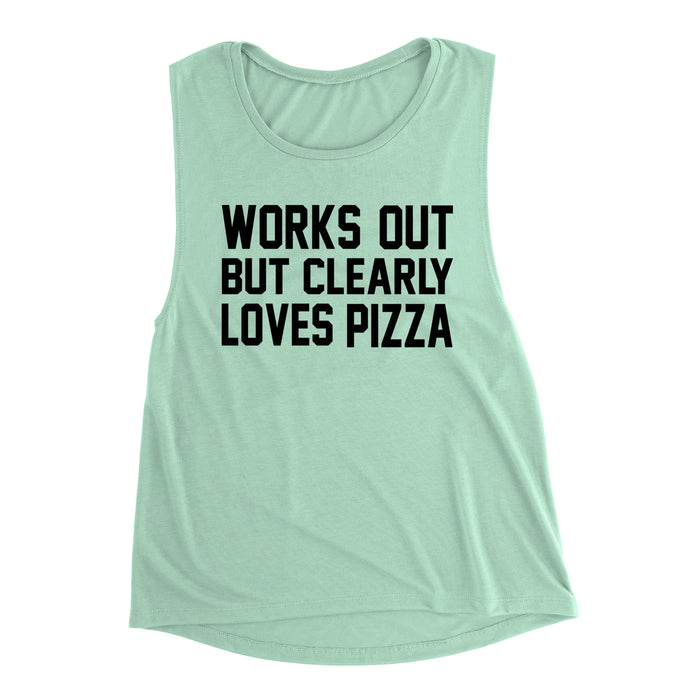 Works Out But Clearly Loves Pizza Shirt. Kinda Wanna. Tryna Be Fit. Workout Tank. Fitness Tank. Feed Me Pizza. Pizza Tank. Gym Tank.