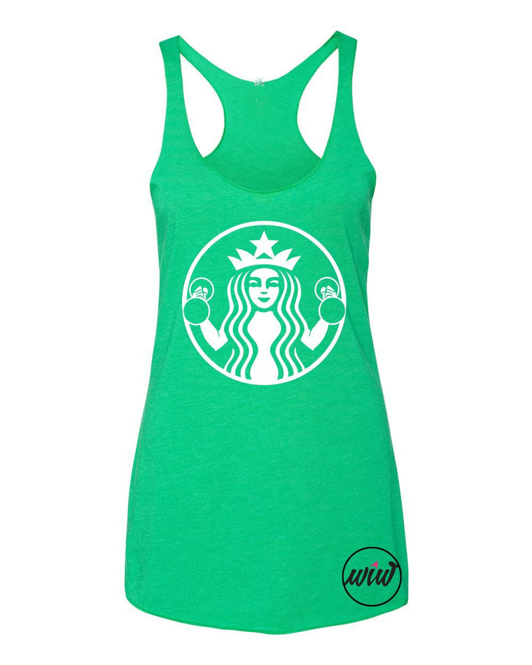 Starbuff Strong Tri-blend Tank Top. Workout Tank. Drink Some Coffee. But First Coffee. Funny Workout. Fitness Tank. Gym Tank. Target Shirt.