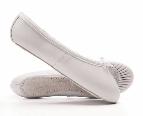 Katz White Leather Ballet Shoe