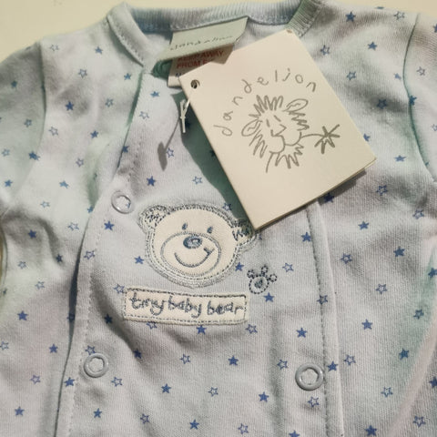 Prem baby tiny bear sleepsuit