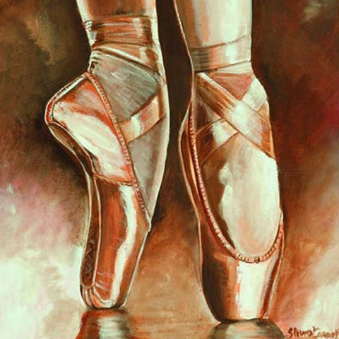 Art of Dance Greetings Card: Square / En Pointe