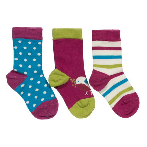 Kite 3 Pack Socks Robin