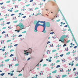 Kite Stripy Owl Sleepsuit