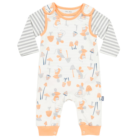 Kite Mousey Dungaree Set