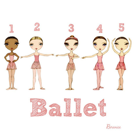 Ballet Papier Greetings Card - Positions