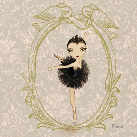 Ballet Papier Greetings Card - Black Swan