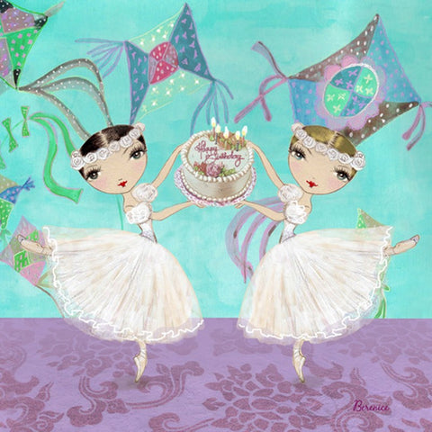 Ballet Papier Greetings Card - Birthday Ballerinas