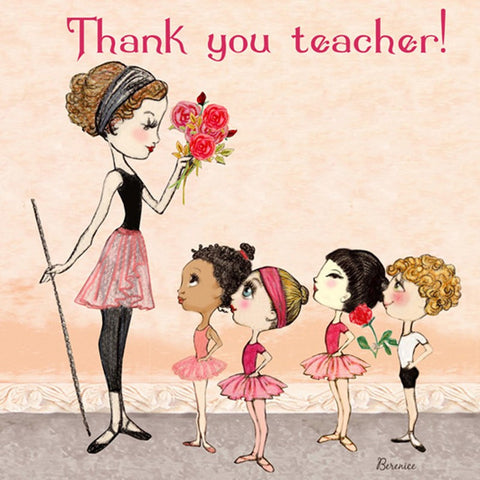Ballet Papier Greetings Card - Thank You Teacher
