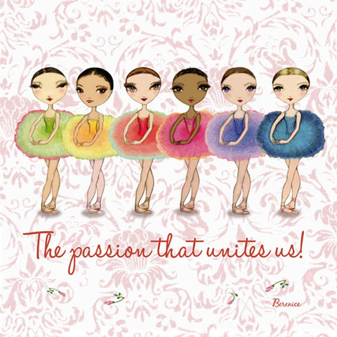 Ballet Papier Greetings Card - Passion Unites