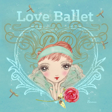 Ballet Papier Greetings Card - Love Ballet