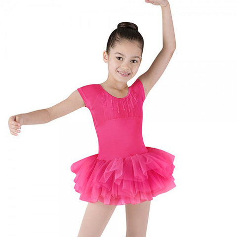 Bloch Sequin Trim Heart Back Cap Sleeve Tutu