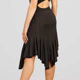 Capezio Long Ruffle Asymmetrical Skirt